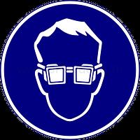 Знак работать в защитных очках, фото 1