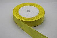 Лента атласная (жёлтая 015) 20 мм. - 25 ярдов (22,8 метра)