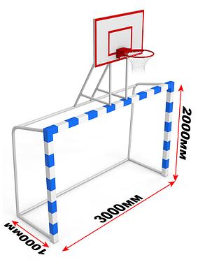 Ворота для минифутбола в комплекте со щитом, фото 2