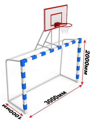 Баскетбольный щит (фанера) с воротами, фото 2