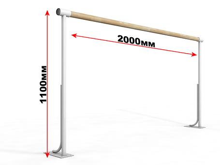 Балетный напольный однорядный станок 2м, фото 2