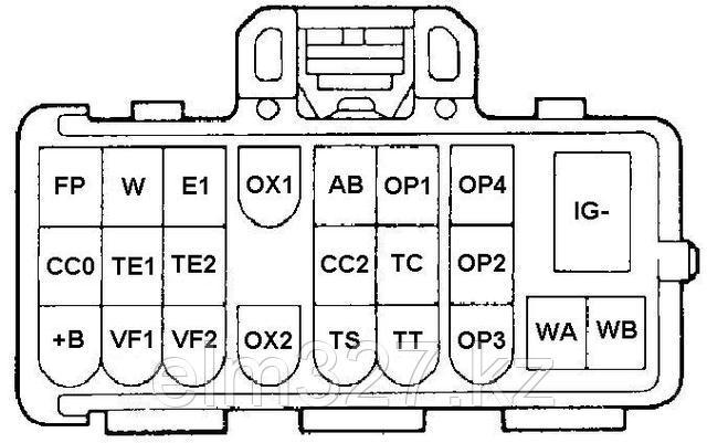 Toyota 22-pin - Распиновка разъема.