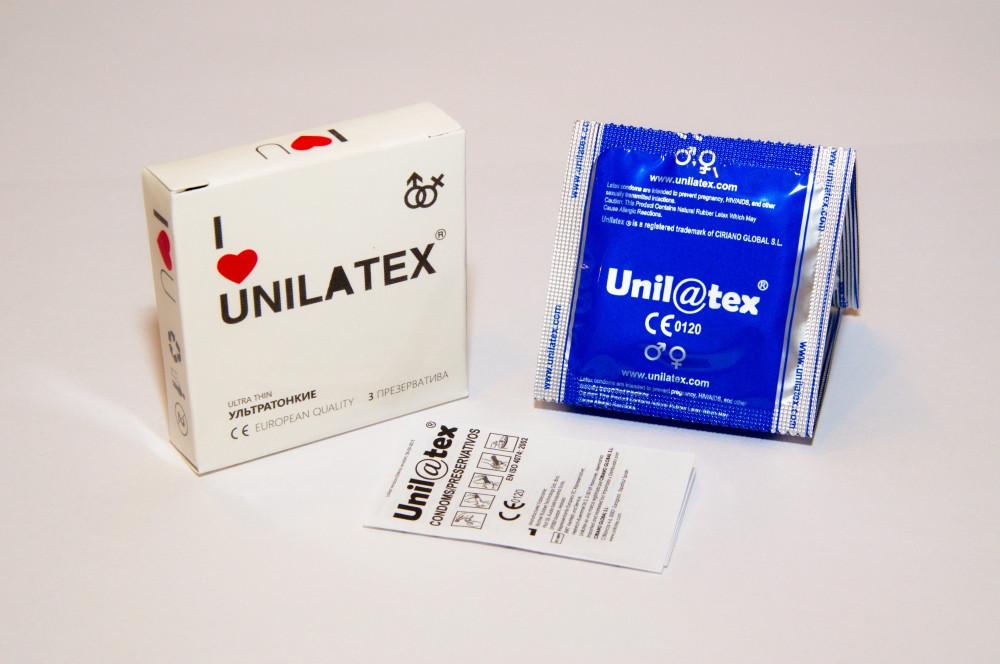 Unilatex Ultrathin 3 шт. Презервативы ультратонкие