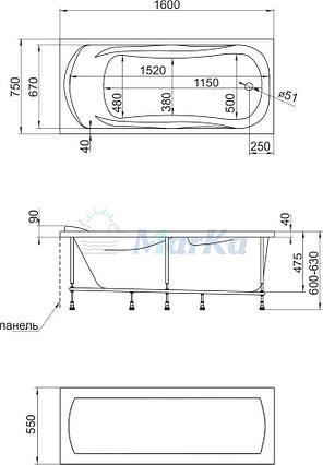 Акриловая гидромассажная ванна. Клео (Общий массаж ), фото 2