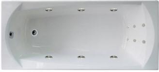 Акриловая гидромассажная ванна. Элеганс 165*70 см. ЛАЙТ ( Общий массаж + массаж спины)