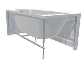 Акриловая гидромассажная ванна. Элеганс 165*70 см. ЛАЙТ ( Общий массаж + массаж спины), фото 2
