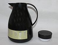 Термос со стеклянной колбой 1л, черный