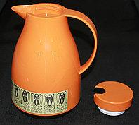 Термос со стеклянной колбой 1л, оранжевый