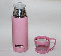 """Термос из нержавеющей стали """"Always"""", 0,35л, розовый"""