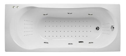 Акриловая гидромассажная ванна. Либра 170*70 см.НАНО (Общий  6, спина 30,ноги 20,дно 50 джетов)
