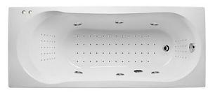 Акриловая гидромассажная ванна. Либра 170*70 см.НАНО (Общий  6, спина 30,ноги 20,дно 50 джетов), фото 2
