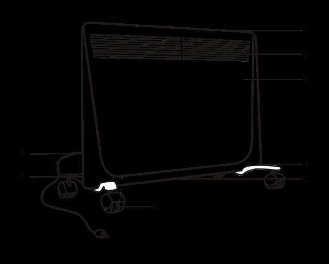 Электрический конвектор Ballu: BEC/EZER 2000 (серия Enzo Electronic)
