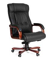 Кресло офисное для руководителя CHAIRMAN 653, натуральная кожа