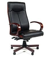 Кресло офисное для руководителя CHAIRMAN 411, кожзам экопремиум