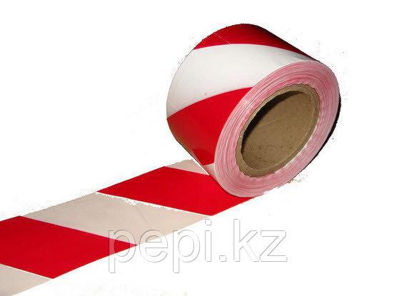 Лента оградительная 75 мм, 250 метров, красно-белая