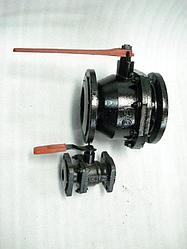 Кран шаровой чугунный фланцевый 11ч 37 ПФ-4  ф200 ЛМЗ