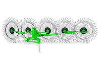 Грабли - ворошилки 5 колёс