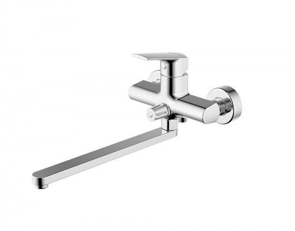 Смеситель для ванны с длинным изливом Bravat REAL F6121179CP-01L