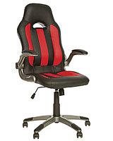 Кресло офисное для руководителя экокожа (черный) FAVORIT TILT
