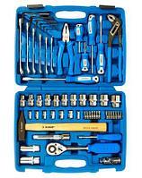 ЗУБР набор слесарно-монтажного инструмента универсальный 58 предм. Серия Профессионал.