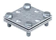 Крестовой соединитель с промежуточной пластиной для плоских проводников до 30 мм, оцинкованный 255 30, фото 1