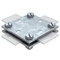 Крестовой соединитель для плоских проводников до 40 мм, оцинкованный 256 A-DIN 40 FT, фото 1