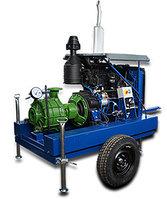 Мотопомпа дизельная на колесном шасси для полива полей, фото 1