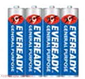 Элемент питания R03 AAA Everedy BLUE SH 4 штуки в шринке