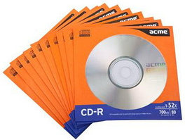 Диск CD-R Acme 80MIN/700MB/52X 1 шт.