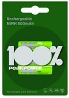 Аккумуляторы 800 мАч LR03 AАA 4 шт 100% peak power