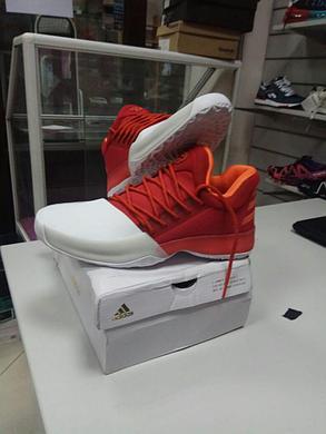 Баскетбольные кроссовки Adidas Harden Vol.1 from James Harden бело-красные, фото 2