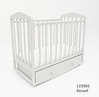 Кровать для новорожденных СКВ Березка 123001 Белый