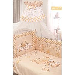 Комплект в кроватку Золотой Гусь Мика Сатин 7 предметов молочный