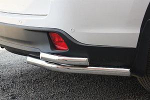 Защита заднего бампера Toyota Highlander 2014- уголки двойные D 60,3/50