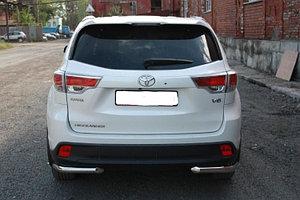 Защита заднего бампера Toyota Highlander 2014- уголки одинарные D 60,3