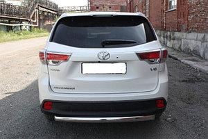 Защита заднего бампера Toyota Highlander 2014- D 60,3 (короткая)