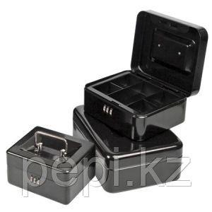 Ящик для денег FORPUS, 152х115х80мм, с кодовым замком, черный