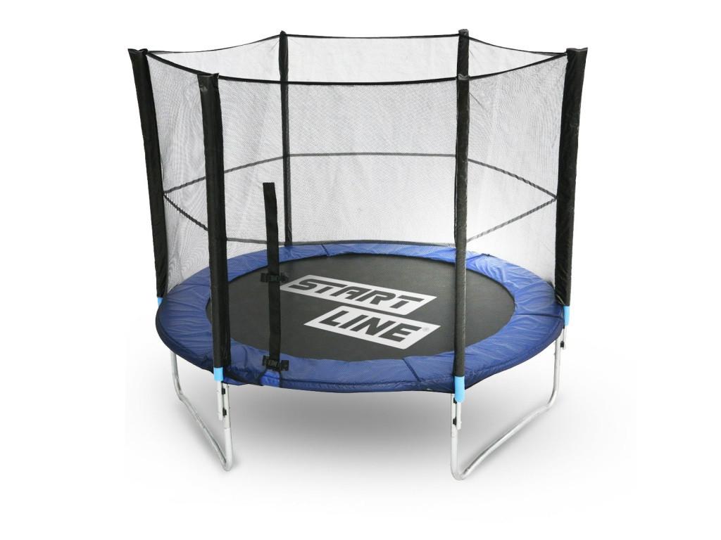 Батут StartLine Fitness 8 футов (244 см) с внешней сеткой