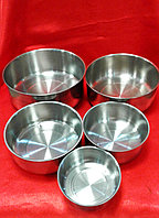 Лоток металлический чашка круглая набор 5шт, также поштучно, фото 1