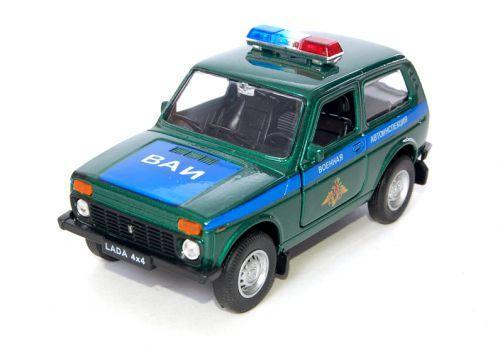 """1/34 Welly Масштабная модель автомобиля LADA 4x4 """"Военная Автоинспекция"""""""
