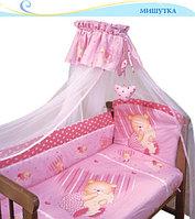 Комплект Золотой Гусь Мишутка 7 предметов розовый