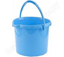 Круглое пластмассовое ведро 12л, голубое Elfe Россия