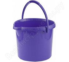 Круглое пластмассовое ведро 12л, фиолетовое Elfe Россия 92957