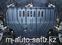 Защита картера двигателя и кпп на Mitsubishi Outlander/Митсубиши Оутлендер 2000-2007, фото 1