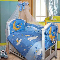 Золотой Гусь Комплект в кровать 8 предметов Ёжик Топа-Топ голубой