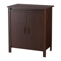 Шкаф с дверями БРУСАЛИ коричневый ИКЕА, IKEA