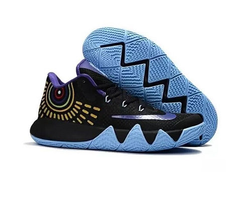 Баскетбольные кроссовки Nike Kyrie IV ( 4 ) черно-синие, фото 2