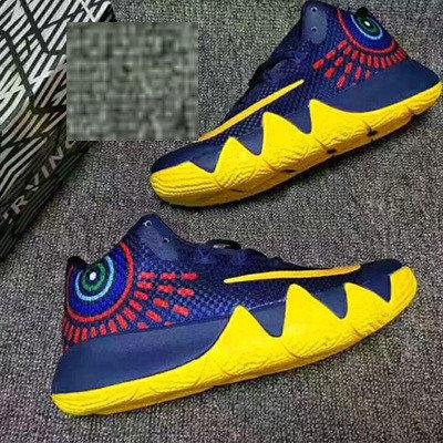 Баскетбольные кроссовки Nike Kyrie IV ( 4 ) синие с желтым, фото 2