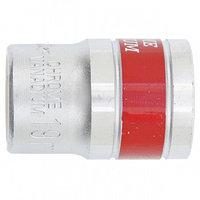 """Головка торцевая 19 мм 6-гранная CrV под квадрат 1/2"""" хромированная MATRIX MASTER 13119 (002)"""
