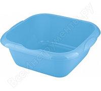Квадратный пластмассовый таз 12л, голубой Elfe Россия 92985